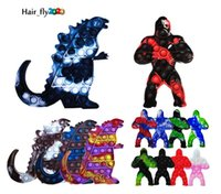 DHL newest Fidget Toys King Kong Push It Bubble Stress Toy Antistress Soft Reliever Toy Squeeze Kids Adult Stress Gift Big Size US stock HJ23