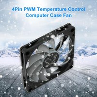 Fans & Coolings KH12H-P 8cm Computer Case Thin Fan 4 Pin 3000RPM Adjustable Speed Temperature Control Expention Board Chassis PWM Heatsink C