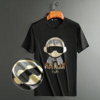 Buddha Bright Rhinestones T Shirts Men Short Sleeve Fashion Clothing Streetwear O Neck Modal Cotton Tee Calaveras Camiseta