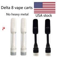 Delta 8 Carts USA Stock Full Ceramic Vapes Cartridge Atomizers Cart Disposable Vape Pen Lead Free E cigarettes 510 Thread Vaporizer 0.8ml 1.0ml China Supplier