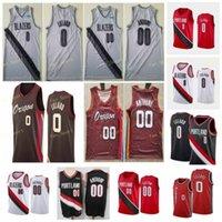 City Ganhou Edição Damian 0 Lillard Basketball Jerseys Carmelo 00 Anthony C.J. 3 McCollum Homens Costurado Tamanho S-3XL