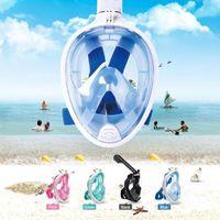 Masques de plongée Masque de plongée en apnée Full Faune Pour Enfants Natation Sous-marine Respirateur Goggle Matériel de soins de formation