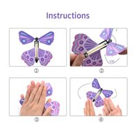 3D magic flying butterfly DIY Novel toy various playing methods props tricks Party Favor JJA152
