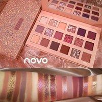 Novo Sparkle Pırıltılı Göz Farı Paleti 18 Renkler Metalik Glitter Mat Pigmentli Göz Farı Toz Makyaj Ürünleri Giymek Kolay DHL
