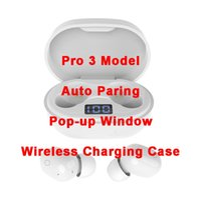 Air Gen 2/3 TWS Fones de ouvido Renomear Pro Pop Up Janela Bluetooth Headphone Auto Paring Sem Fio Caixa de carregamento sem fio Earbuds Drop Ship