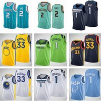 2021 Nouveau projet Pick 1 Anthony Edwards 2 Lamelo Ball 33 James Wiseman Jersey Hommes Femmes Enfants Jeunes Jeunes Bleu Blue Purple Purple Basketball Jerseys