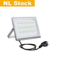 NL Stock Outdoor Lighting Floodlights IP65 10W 20W 30W 50W 100W AC110V 220V With US EU Plug Suitable For Warehouse,Garage,Factory Workshop,Courtyard,Garden