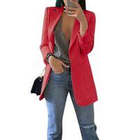 2021 Spring Fashion Blazer Jacket Women Suit European Work Thin Suit Blazer Long Sleeve Mujer Outerwear New Clothes