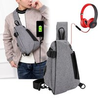 Outdoor Bags Leisure Sports Men's Chest Bag Single Shoulder Messenger Nylon Waterproof Small Satchel Backpack