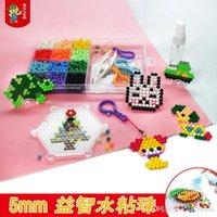 마법의 물 접착제 구슬 장식 다채로운 크리스탈 DIY 비즈 물 스프레이 3D 퍼즐 교육 장난감 어린이 키트 공 게임