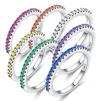 Cluster Rings Blue Zircon Stone Ring For Women Fashion Stackable Ring,Female Jewelry Wedding Party Engagement Colorful