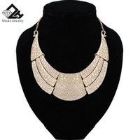 Stick jóias Marca de zinco liga na moda placa de ouro Geométrica charme bib gargantilha para mulheres coradores