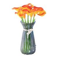 Dekorative Blumen Kränze 5 stücke Künstliche Blume PU echte touch 12 farbe mini calla lilie hause essen tisch pografie dekoration hochzeit par