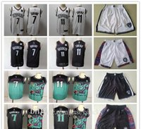 Mens Brooklynetsthrowback Jersey Kyrie Kevin 7 Durant 11 Irving Basquetebol Shorts Basquetebol Jersey BLQCK Navio Branco Verde