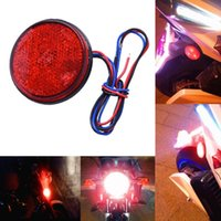 Notleuchten 24SMD 1 STÜCKE 12V LED Auto Runde Bernstein Rot Weiß Rücklichter ATV Reflektors LKW-Seite Warnung für Anhänger LKW