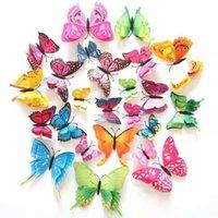 Бабочка для украшения Магниты на холодильнике Наклейки Декоративные Бабочки для дня рождения Питание 3D Тема Декор Свадьба 12 шт.