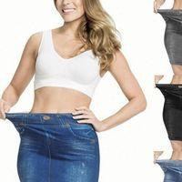 Skinny High Waist Skirts Women Short Stretchy Imitated Pockets Button Denim Skirt Fashion Female Saias Casual Jeans