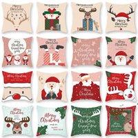 Feliz Natal travesseiro capa de almofada de almofada Papai Noel elk decoração de natal para casa 2021 enfeites de natal novo ano novo rrd10825