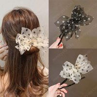 Bun Hairstyle Hairdressing Tools Chiffon Bow Dot Hairpins Women Braider Twist Headwear Accesories DIY Flower Donut Maker Tools