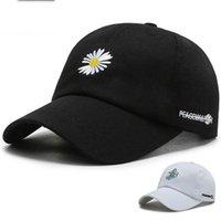 Daisy Baseball-Mütze Hut für Männer Frauen-Plain-gebogener Sonnenblende Baseball-Kappe Hut Druckbuchstaben Mode einstellbare Kappen schwarz weiß