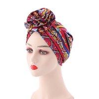 أزياء بوهيميا القطن اصطف bonnets النساء دوامة الأفريقية عقدة نمط طباعة النسيج أنقرة العمامة قبعة مسلم الحجاب العظم