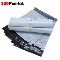 100 adet Kurye Çantası Kendinden Mühür Posta Çantası Plastik Poly Posta Zarf Su Geçirmez Posta Nakliye Çanta Kurye Zarf Siyah Beyaz