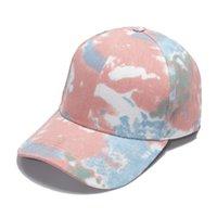 قبعات البيسبول للأزواج مصممي الأزياء التعادل مصبوغ ذيل حصان متعدد الألوان قاعدة اختيار الكرة كاب عارضة بلغت ذروتها القبعات الربيع والصيف في الهواء الطلق مبيعات كبيرة القبعة