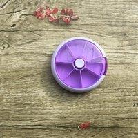 Runde sieben Gitter pro Woche Rotieren Kombinierte Pille Box Medizin Klassifizierung Tragbares 7 Gitter Kunststoff Papplagerung Bequemer HWA6384