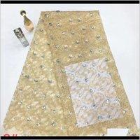 Vêtements vêtements de haute qualité Tissus à paillettes français Tulle africain Tissu Fashion Nigerian Net Dentelle Matériel pour la fête de mariage Drop del