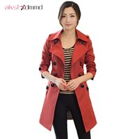 Women's Trench Coats MoYanTrench Coat For Women 2021 Spring Double Breasted Casaco Feminino Autumn Outerwear Abrigos Mujer LH614