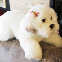 Kawaii Dog Simulation Doll Soft Maltese Dog Plush Toy Cute Pet Animals Slee Pillow Dolls Gift Wedding Deco 38x14x15cm Dy50533