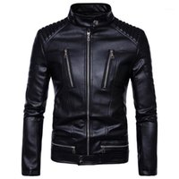 Men Leather Jackets High Quality Pu Motorcycles British Businessmen Casual Fashion Tactical Jacket Coat 5XL1