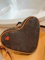 Игра На Coeur Tote Мини-сумка Красное сердце M57456 Сумки Luxurys Дизайнеры Урожай мессенджер Сумки через плечо