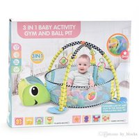 3in1 Baby Play Mat Fencing Ocean Pool Toys Cartoon Blanket Ball Game Turtle Foldable Crawling Tent Pit Pool Gift