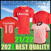21 22 SC Internacional de futebol jerseys Brasil esporte camisa guerrero t.galhardo d'alessandro homens mulheres kits kits masculino feminino futebol camisas 2021 2022 Tailândia