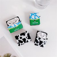 Cute Cartoon Cow Pattern Earphone Cases For Apple AirPods pro 2 3 Silicone Wireless Bluetooth Headset Protect cover Charging Box