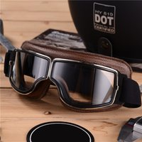 Мотоцикл старинные ретро солнцезащитные очки кожаные очки очки для шлема с лицевым щитом Motocross Часть POC Моторный цикл