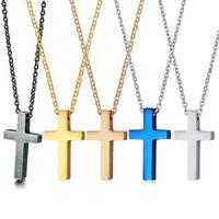 "Pendant Necklaces Christian Cross For Men Women Crucifix Male Eternal Church Cruz Religion Necklace Free O Chain 20"""