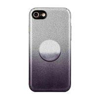 Gradiente colorido gradiente mudança de cor ultra fina kickstand telefone para iphone 7 8 SE2 luz anti-gota de gota brilhante