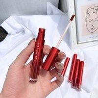Lip Gloss 6colors Red Tube Velvet Matte Glaze Waterproof Long-lasting Makeup Not Easy To Fade Liquid Lipstick TSLM1