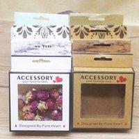 Kraft Paper Emballage Coffret Coffret PVC Fenêtre Couleur Imprimerie DIY MERCI VOUS NOUS VOUS IMPRIMÉS CARRES EN CARTBOARD
