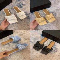Xichl Crafty Lock Style Flache Maultiere Gurte Front Wide Printed Luxuriöse Segeltuch Crafty Hohe Qualität Abstrakte Kunst Designer Frauen IT Frauen