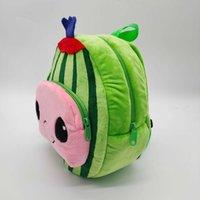 Jojo Cocomelon Plüsch Spielzeug Rucksack Schultaschen Weiche Wassermelone Cartoon Kinder Plüsch Rucksäcke Geburtstagsgeschenk für Kinder Geschenke