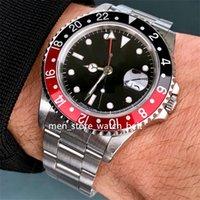 Модернизированная версия BP Factory Luxury Mens Watch 40mm 1995 GMT II 16710 Кокс красный черный автоматический ETA .2813 Движение мужские часы