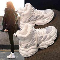 Dress Shoes Female chunky shoes, plush platform for women, high winter 85IG