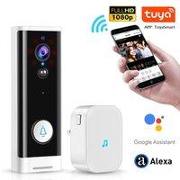 Wireless Tuya Smart Life WiFi Video Doorbell Waterproof Camera Night Vision APP Control Call Intercom Video-Eye Apartments Door Bell Ring support Alexa Google Home