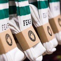 Yeşil Çizgili Mektuplar Klasik erkek Çorap Spor Erkekler ve Kadınlar Saf Pamuk Eğilim Çorap
