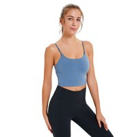 Yoga Bra Indoor Sport Bra Fitness Yoga Vest Gym Clothes Women Underwears Padded Running Tank Tops Half Strap Workout Athletic Yoga Clothes