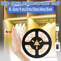 Night Lights 1M-5M Motion Sensor LED Light Strip Hand Sweep Dimmable Tape Diode USB DC 5V SMD 2835 Wardrobe Kitchen Stairs Lamp