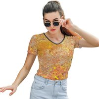 Women's T-Shirt Wheat Fields T Shirt Street Fashion Trendy Women Short Sleeve Print O Neck Polyester Tee